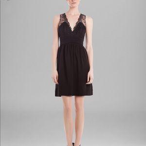 Sandro Black Rubis Star Mesh Dress
